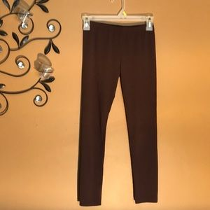 Girls brown leggings size 10/12